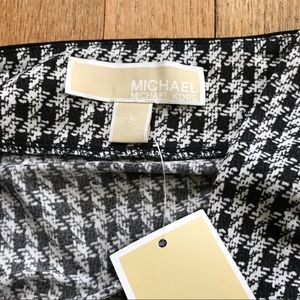 MICHAEL Michael Kors Tops - NWT Micheal Kors Cold Shoulder Houndstooth Blouse